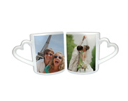 cadeaux - Mug Duo Photo Coeur